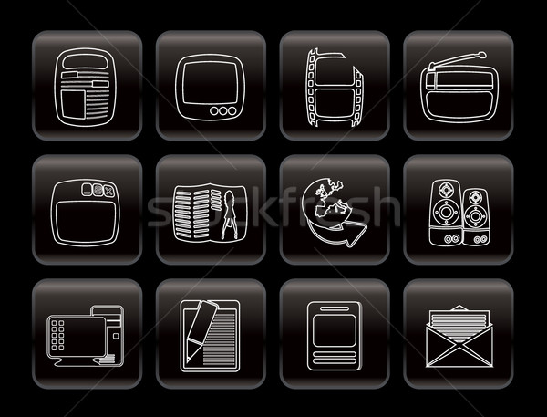 Simple Media icons  Stock photo © stoyanh