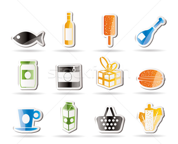 Shop, food and drink icons 1  Stock photo © stoyanh