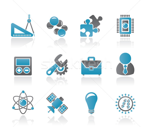 Science and Research Icons Stock photo © stoyanh