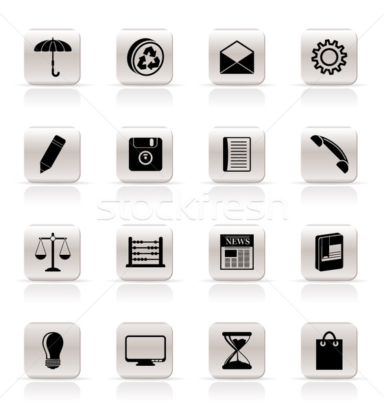 Stock photo: Simple Business and Office internet Icons