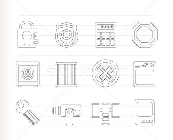 Security and Business icons  Stock photo © stoyanh