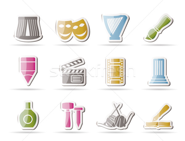 Different kind of art icons  Stock photo © stoyanh