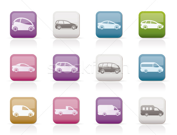 different types of cars icons Stock photo © stoyanh