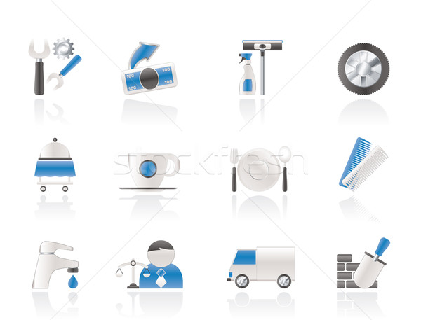 Zdjęcia stock: Usług · działalności · ikona · wektora · ciężarówka
