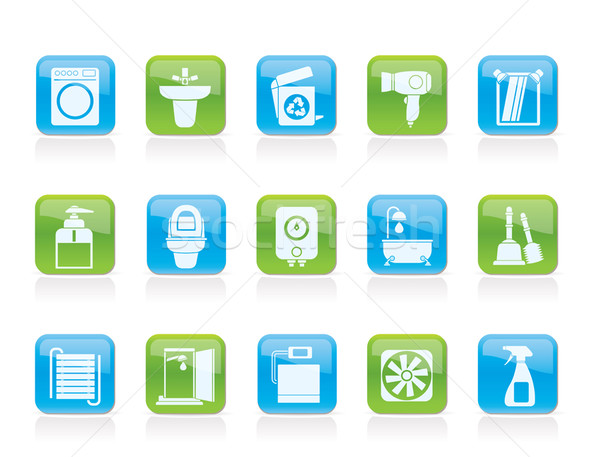 Bathroom And Toilet Objects And Icons Vector Illustration C Stoyan