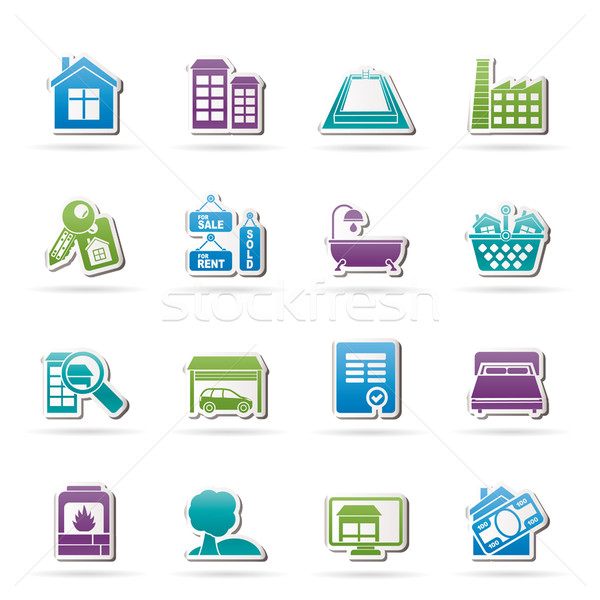 Real Estate objects and Icons  Stock photo © stoyanh