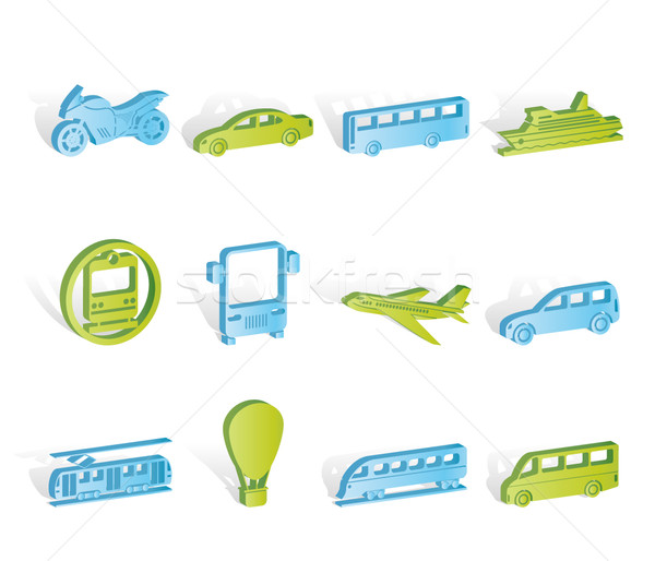Travel and transportation of people icons Stock photo © stoyanh
