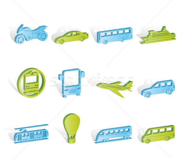 Reizen vervoer mensen iconen vector Stockfoto © stoyanh