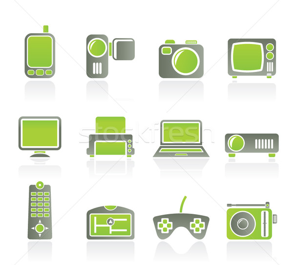 Hi-tech technical equipment icons  Stock photo © stoyanh
