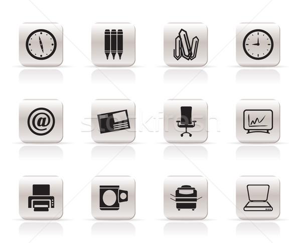 Foto stock: Negócio · escritório · ferramentas · ícones · vetor