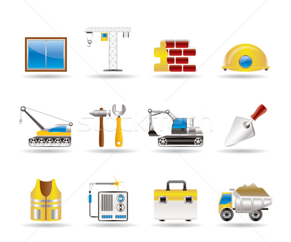 building and construction icons Stock photo © stoyanh