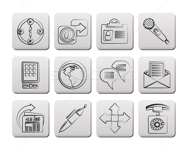 бизнеса служба Интернет иконы вектора компьютер Сток-фото © stoyanh