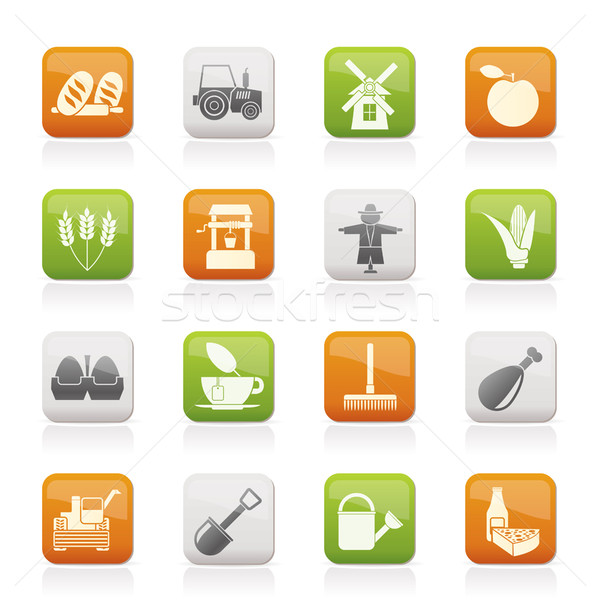 Agriculture and farming icons  Stock photo © stoyanh