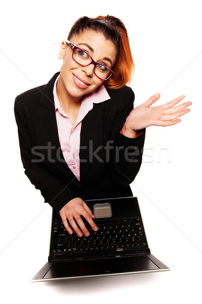 деловая женщина Плечи мнение привлекательный молодые Сток-фото © stryjek