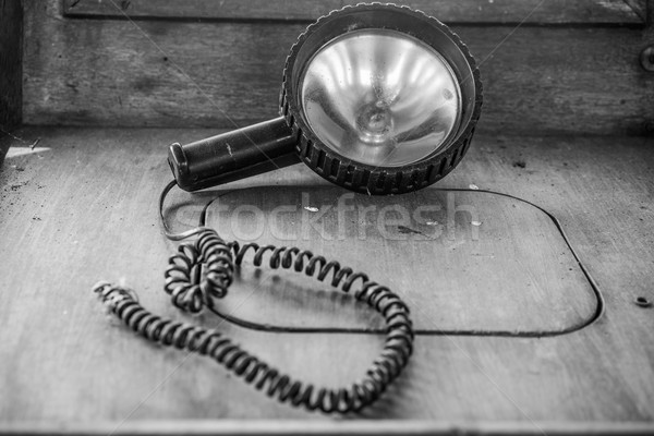 Old portable spotlight Stock photo © stryjek