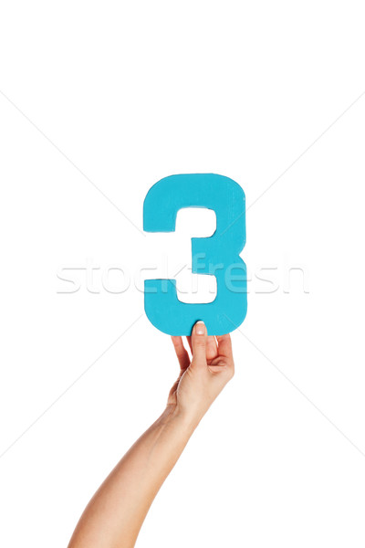 hand holding up the number three from the bottom Stock photo © stryjek