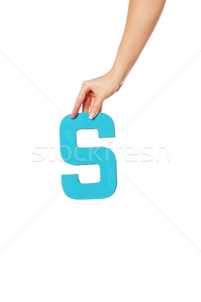 hand holding up the letter S from the top Stock photo © stryjek