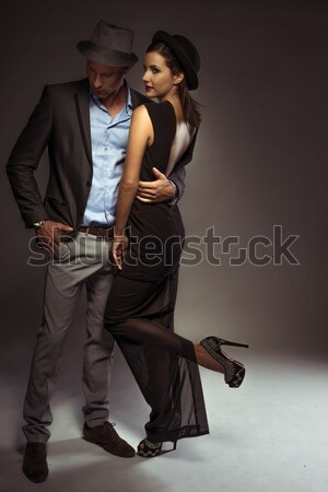 Businessman Stroking Call Girl Stock photo © stryjek