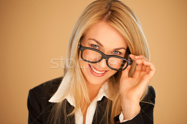Attractive professional woman in glasses Stock photo © stryjek