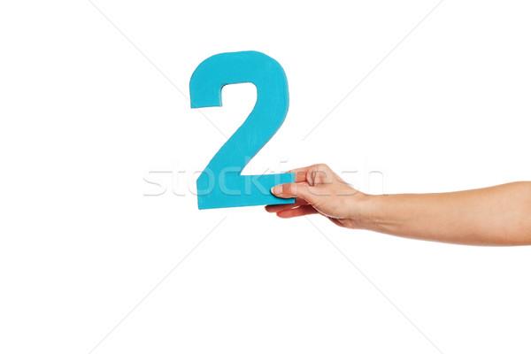 Hand aantal twee vrouwelijke Stockfoto © stryjek