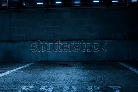 Empty Concrete Car Park Inside the Building Stock photo © stryjek