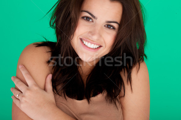 Cheerful Young Woman Portrait Stock photo © stryjek