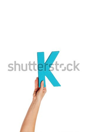 hand holding up the letter K from the bottom Stock photo © stryjek