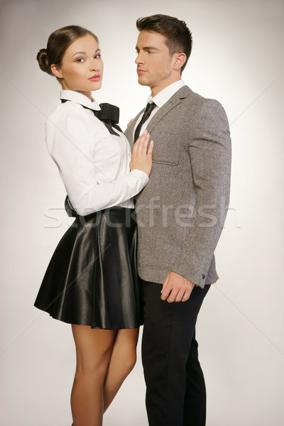 Middle Age Couple in Fashion Attire Portrait Stock photo © stryjek