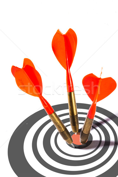 Three red darts in a dart board Stock photo © stryjek
