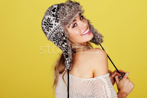 Vivacious Smiling Blonde Stock photo © stryjek