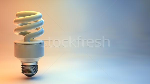 3d render energy saving bulb Stock photo © stryjek