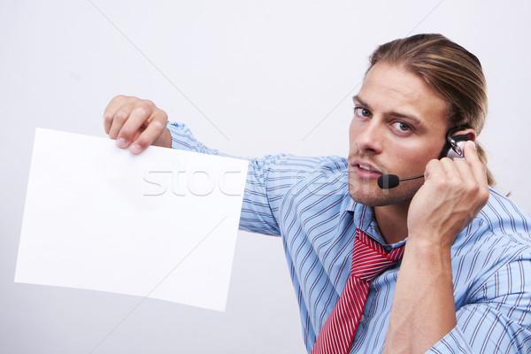 A confident business man. Stock photo © stryjek