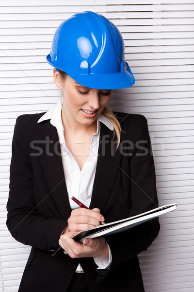 Female Inspector Checking Notes Stock photo © stryjek