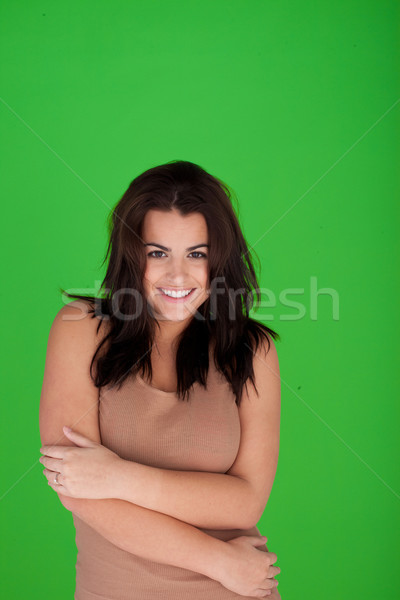 Beautiful Young Woman Smiling Stock photo © stryjek