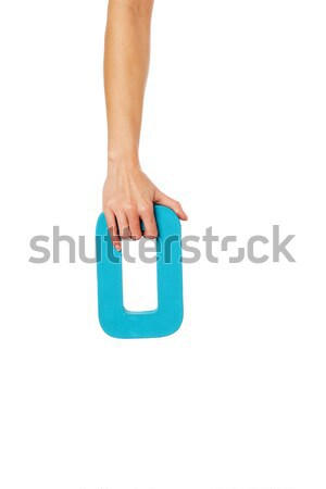 hand holding up the letter U from the top Stock photo © stryjek