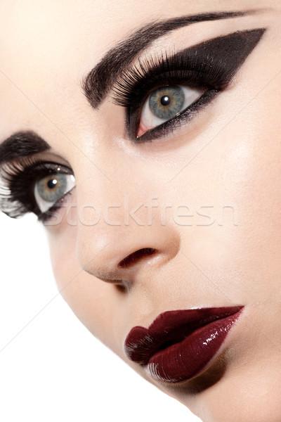 Gotik güzellik özellikleri güzel kadın Stok fotoğraf © stryjek