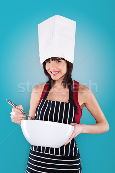 Woman Chef In Hat And Apron Stock photo © stryjek