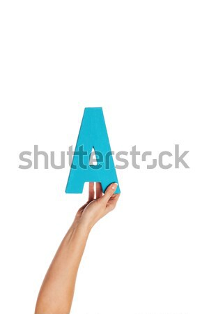 hand holding up the letter A from the bottom Stock photo © stryjek