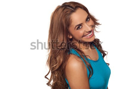 Brunette woman Stock photo © stryjek