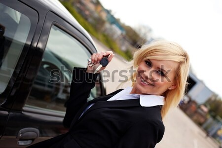 Woman driver in right hand drive vehicle Stock photo © stryjek