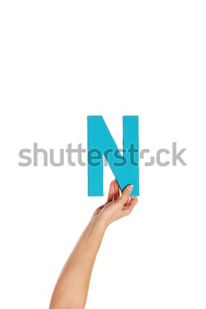 hand holding up the letter N from the bottom Stock photo © stryjek