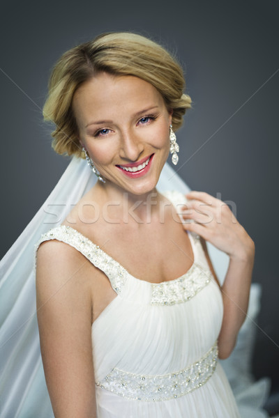 説明 花嫁 肖像 小さな 白 ストックフォト © stryjek