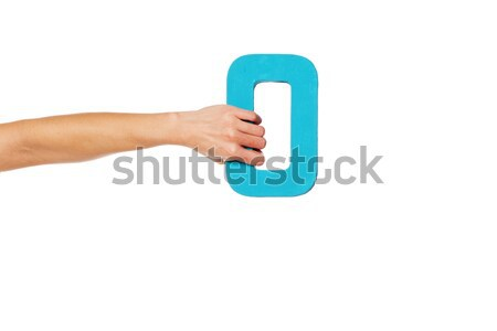 hand holding up the number zero from the left Stock photo © stryjek