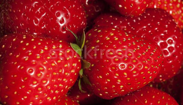 Background of luscious ripe red strawberries Stock photo © stryjek