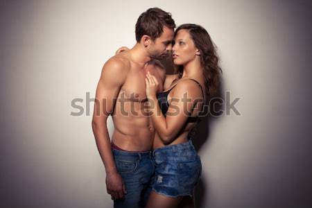 Erotic Couple Embracing Stock photo © stryjek