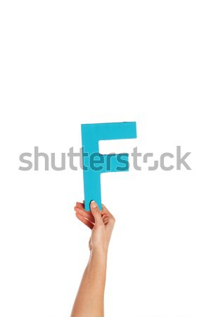 hand holding up the number seven from the bottom Stock photo © stryjek