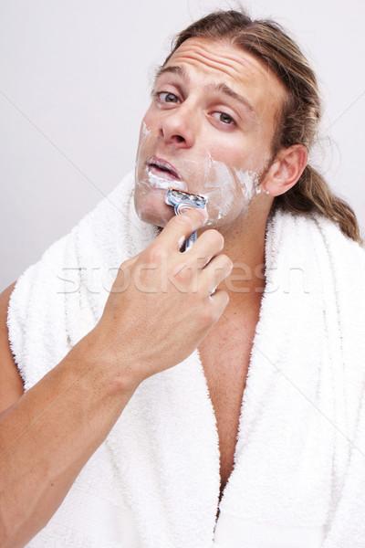 time for shaving Stock photo © stryjek