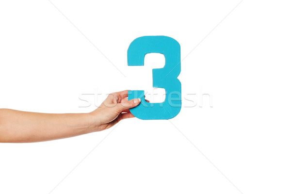 hand holding up the number three from the left Stock photo © stryjek