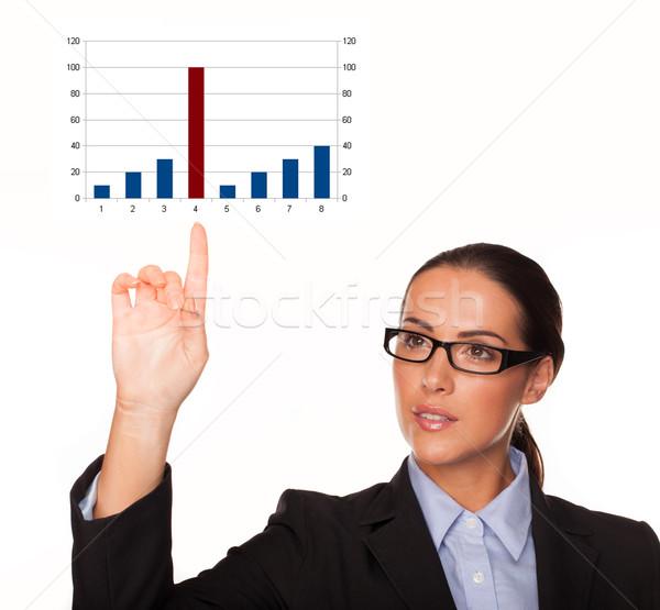 Businesswoman with a bar graph Stock photo © stryjek