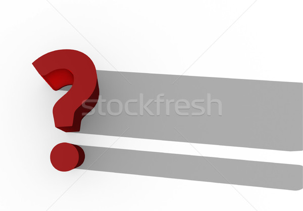 red 3d question mark Stock photo © stryjek